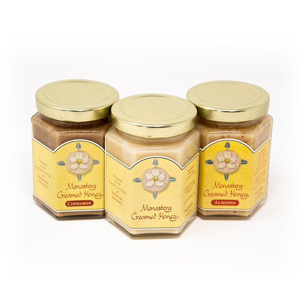 Monastery Creamed Honey || Original, Almond, and Cinnamon