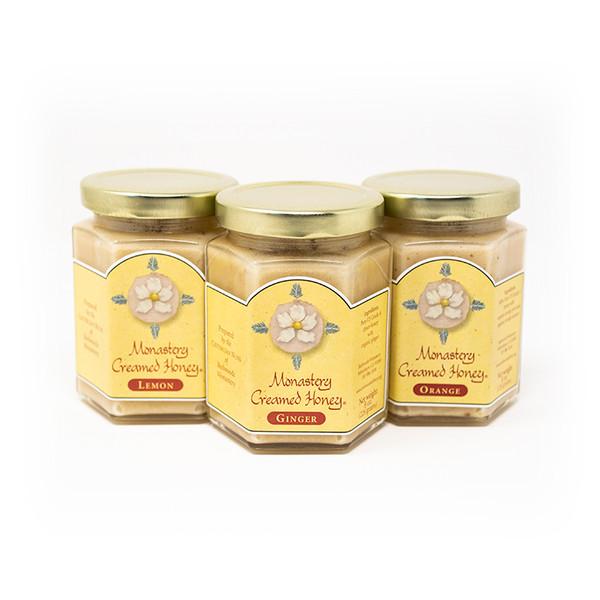 Redwoods Abbey    Gift Box: Monastery Creamed Honey   Lemon, Orange, Ginger - From The Cistercian Sisters of Northern California