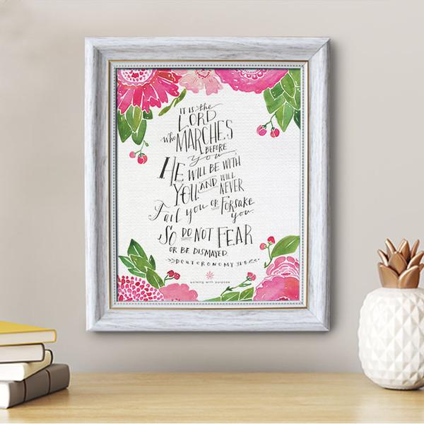 Deuteronomy 31:8 - Framed Canvas