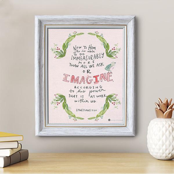 Ephesians 3:20 - Framed Canvas