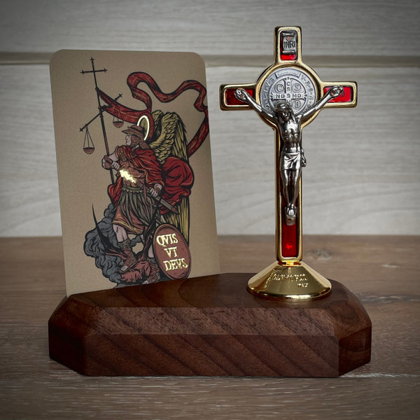 Home Altars | St. Michael | The Catholic Woodworker | LIMITED EDITION