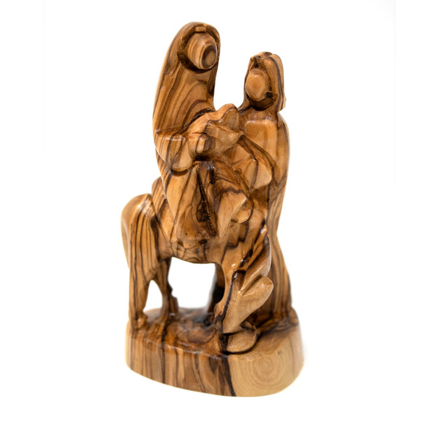 Bethlehem Cooperative || Olive Wood Statue - Holy Family Flight Into Egypt