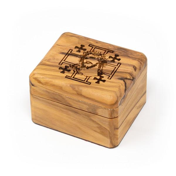 Bethlehem Cooperative    Olive Wood Box - Passion of Christ