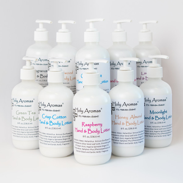 Holy Aromas® | 10-Pack Assorted Hand and Body Lotion Aromas - From The Franciscan Sisters of Sylvania, Ohio