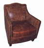 Danielle Leather Accent Chair - P006301