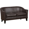Brown Faux Leather Upholstered Settee - DS-A250-680-118