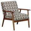 Wood Frame Accent Chair in Prism Flannel - DS-D030003-486