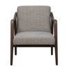 Mid Century Wood Frame Accent Chair in Kendrick Driftwood - DS-D102006