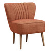 Mid Century Vertically Channeled Accent Chair in Kenrdrick Ember - DS-D102007