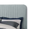 Mid-Century All-in-One Queen Bed with Channeled Headboard & Footboard in Dupree Delft - DS-D121-290-526