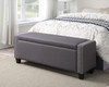 Upholstered Storage Bed Bench Trespass Slate- DS-2178-132