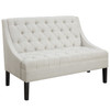 Scoop Arm Button Tufted Settee in Avanti Powder - DS-A213-400-402