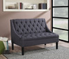 Scoop Arm Button Tufted Settee in Vienna Twilight- DS-A213-400-405