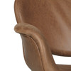 Brown Faux Leather Metal Back Rocking Chair - DS-D144-900-1