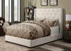 Contemporary Shelter Upholstered Footboard w/Rails Queen - DS-1927-251