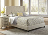 All-N-One Fully Upholstered Shelter Bed Queen - DS-1930-290