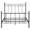 "All-in-One ""Shaker"" Queen Metal Bed - Black - DS-2644-290"