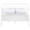 All-in-One Curved Queen Metal Bed - Cream - DS-2645-290-3