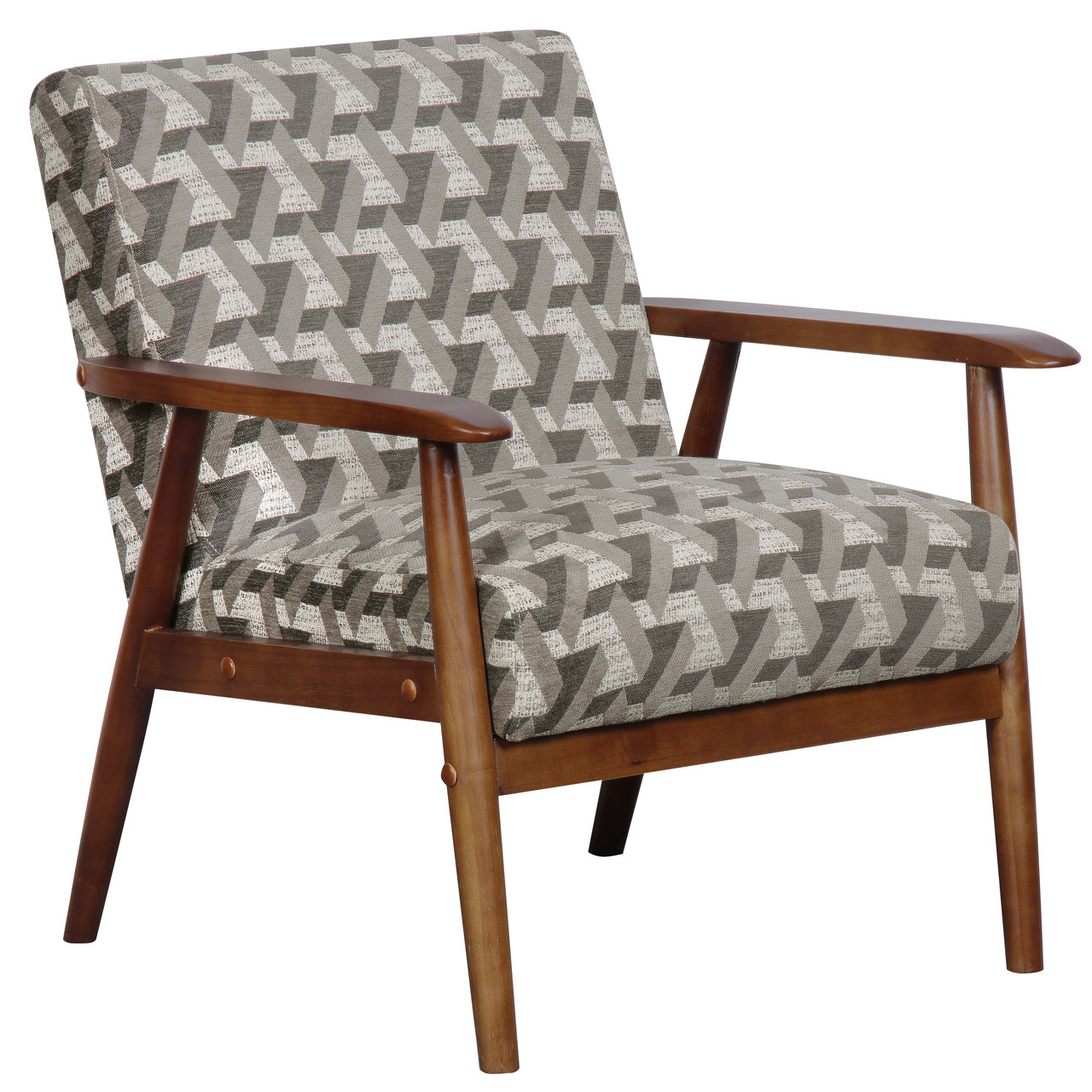 Wood Frame Accent Chair In Prism Flannel Ds D030003 486 North