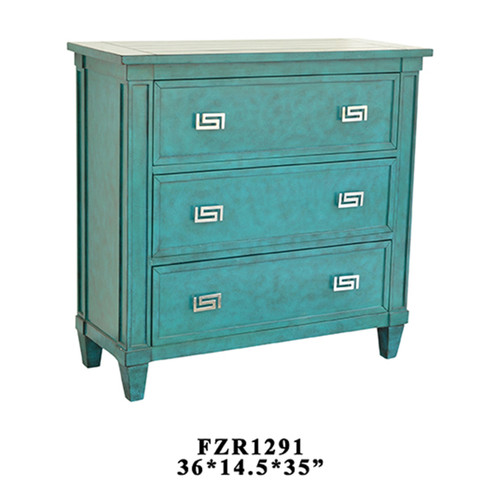 Priscilla 3 Drawer Turquoise Chest