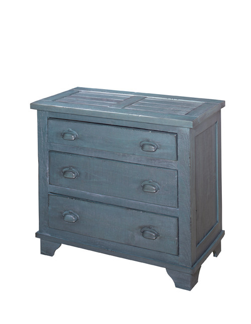Industrial Chest - Denim Blue