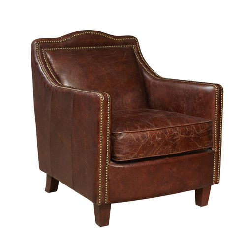 Danielle Leather Accent Chair- P006301