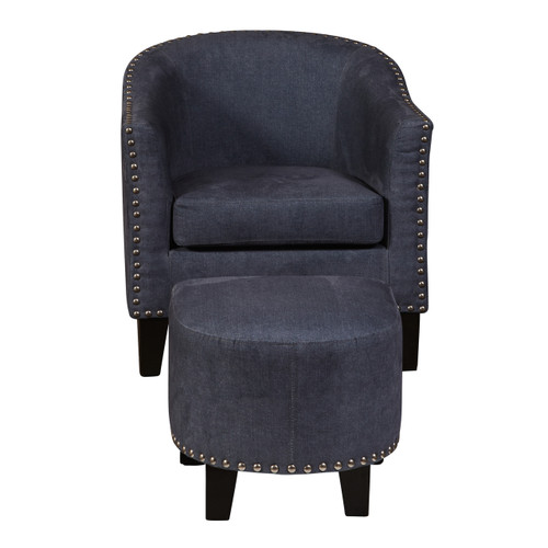 Accent Chair & Ottoman Denim Vintage - DS-2278-900-118