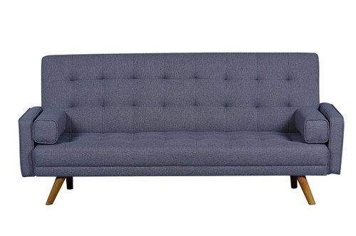 Mid-Century Biscuit Tufted Click Sofa with Bolster Pillows- DS-D052-680-288
