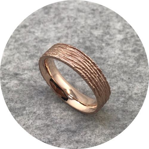 Amelie Atelier - 'Cedar Ring', 9 carat rose gold T.5