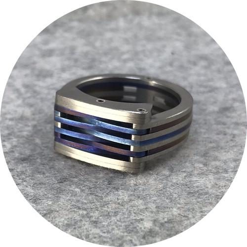 Luke Abbot - 'Orbis Kardo', titanium, 925 silver U.5