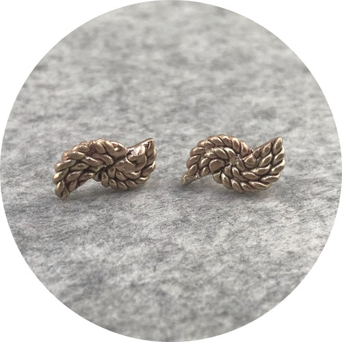 Katie Shanahan - 9ct Yellow Gold Rope Studs