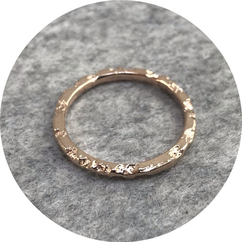 Albert Tse - Crater 1.5mm 9ct Rose Gold Ring