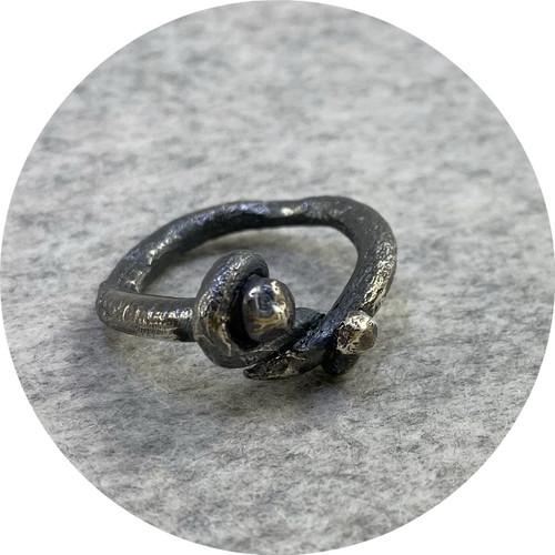 Maria Klingner - 'Nailed It Ring' 925 silver R
