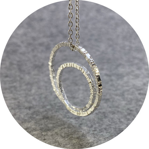 Amelie Atelier - 'Tactility Spiral Necklace', 925 silver