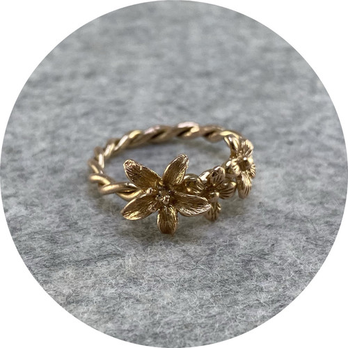 Ada Hodgson- Garland ring. 9ct rose gold. size O
