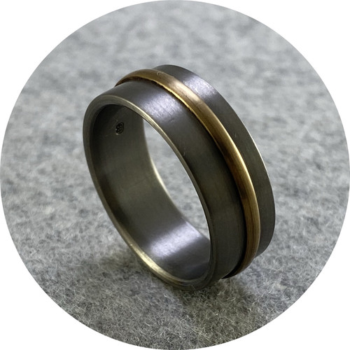 Brendan Cunningham - 'Titanium and 9ct Yellow Gold Ring'  V