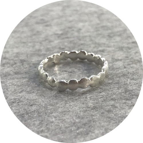 Katie Shanahan- Eternity ring in sterling silver