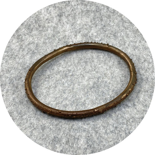 Katie Shanahan- thick bronze speckled bangle
