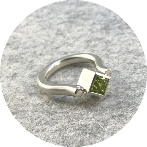 Danielle Barrie - 'Regal Ring' Made in Sterling Silver and set with a Peridot