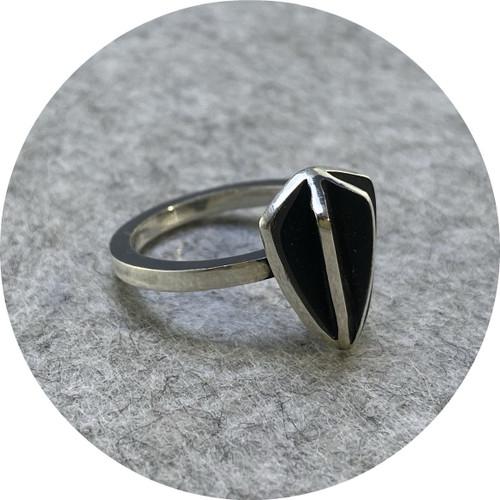 Rachael Grigulis - 'Shield X-series Ring', 925 silver K.5