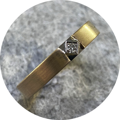 Eli Speaks - 'Central Mexicali Tile Ring', 9ct yellow gold, 14ct white gold, diamond M.25