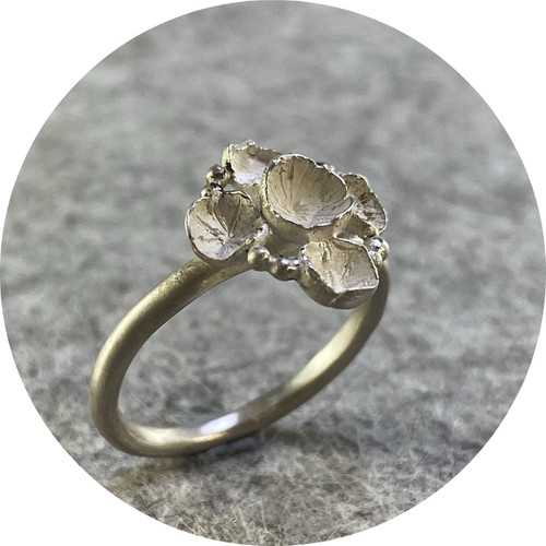 Danielle Lo - 'Cluster Ring No. 2' made  in Fine Silver and Sterling Silver