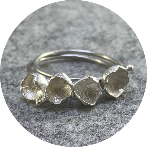 Danielle Lo - 'Cluster Ring No.1' in Fine Silver and Sterling Silver