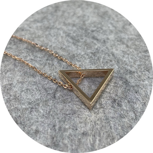 Orion Joel - 'Three Square', 9ct rose gold
