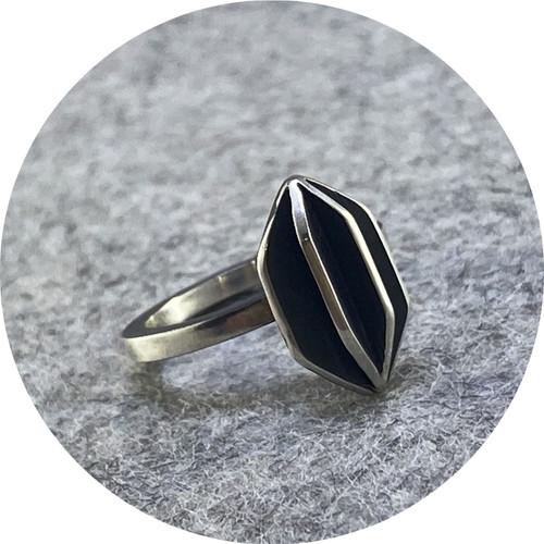 Rachel Grigulis- X-Series ring- vertical #2. sterling silver
