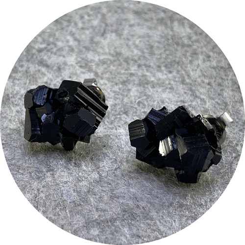 Simon Williams - 'Mini'ralist Earrings', resin, stainless steel