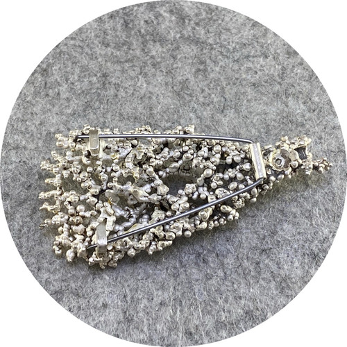 Virginia Sprague- 'Remnant Series' Brooch II in Sterling Silver, Oxidised Silver and 22 ct Gold