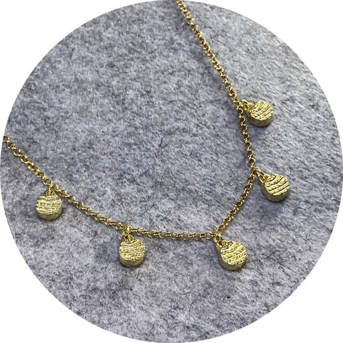 Melanie Joy - ''Atma Small neckpiece' , sterling silver, triple plated with hard 18ct yellow gold.