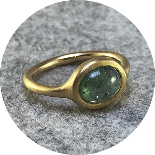 Katie Shanahan - 9ct Yellow Gold Blue/Green Tourmaline Ring