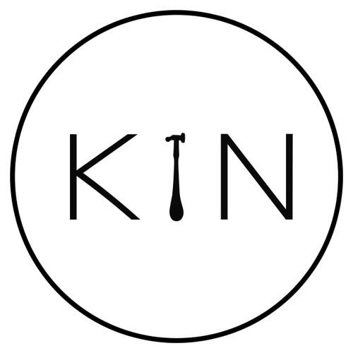 KIN - Calico tote bag with KIN logo